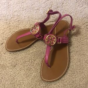 Raspberry Tory Burch Sandals